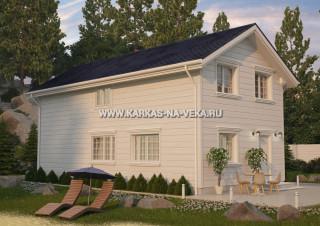 Каркасные дома под ключ проекты и цены: двухэтажные с подъемом стен