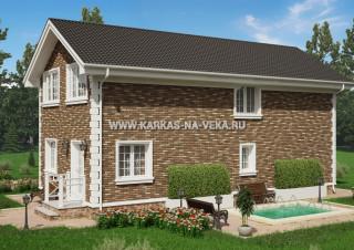 Каркасный двухэтажный дом 6х12 проект № 3