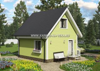 Каркасный дом 6х6 с мансардой проект № 5