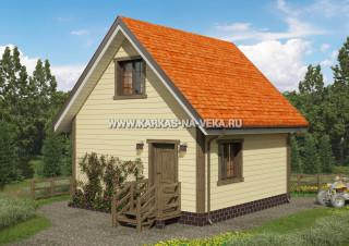 Каркасный дом 6х6 с мансардой проект № 6