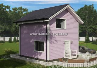 Каркасный двухэтажный дом 6х6 проект № 7