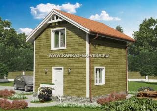 Каркасный двухэтажный дом 6х6 проект № 8