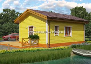 Каркасный дом 6х8 (одноэтажный) проект № 1