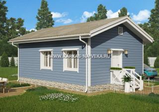 Каркасный дом 6х8 (одноэтажный) проект № 2