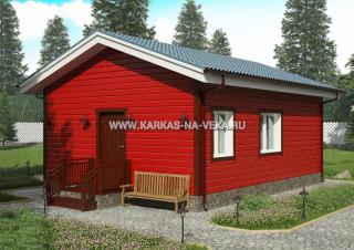 Каркасный дом 6х8 (одноэтажный) проект № 3