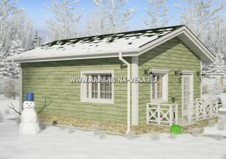 Каркасный дом 6х8 одноэтажный - проект № 4