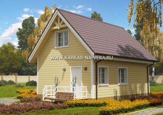 Каркасный дом 6х8 с мансардой проект № 5