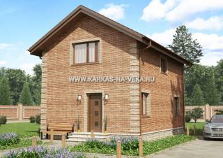 Каркасный дом 6х9 полумансардный - проект № 1