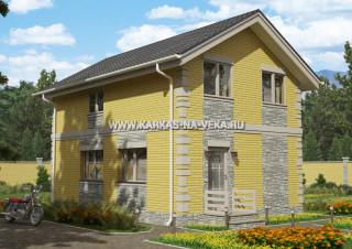 Каркасный двухэтажный дом 6х9 проект № 3