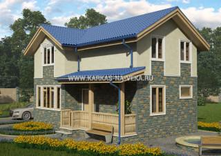Каркасный дом 6х9 полумансардный - проект № 4