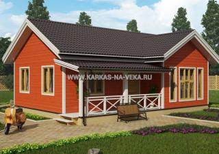 Каркасный дом 7,5х10 (одноэтажный) проект № 1
