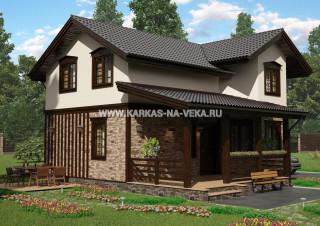 Каркасный двухэтажный дом 7,5х10 проект № 2