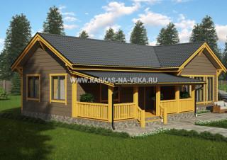 Каркасный дом 7,5х14 (одноэтажный) проект № 1