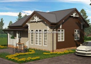 Каркасный дом 7х9,5 (одноэтажный) проект № 1