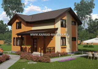 Каркасный двухэтажный дом 7х9 проект № 1