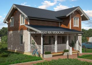 Каркасный дом 8,5х11 полумансардный - проект № 1