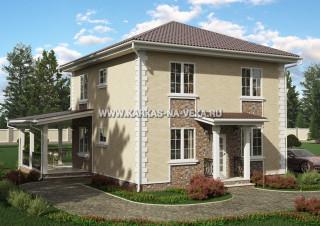 Каркасный двухэтажный дом 8,5х9 проект № 1