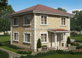 Каркасный двухэтажный дом 8,5х9 проект № 2