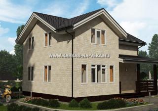Каркасный двухэтажный дом 8х10 проект № 4