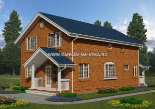 Каркасный двухэтажный дом 8х12 проект № 1