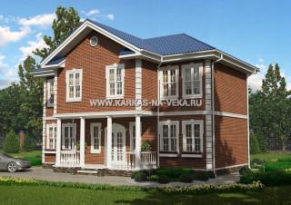 Каркасный двухэтажный дом 8х12 проект № 2