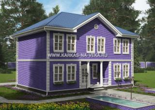 Каркасный дом 8х12 двухэтажный - проект № 3