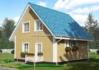 Каркасно-щитовые дома проекты: двухэтажные мансардные