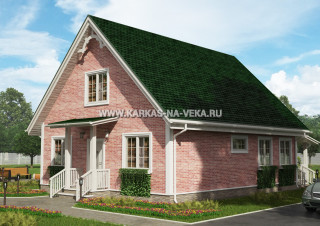 Каркасный дом 9х11 с мансардой - проект № 1