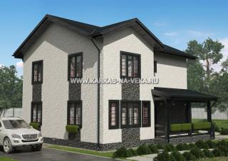 Каркасный дом 9х11 двухэтажный - проект № 2