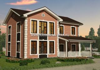 Каркасный двухэтажный дом 9х12 проект № 1