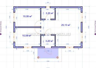 Каркасный двухэтажный дом 6х10 проект, цена 6 на 10 под ключ | 226x320
